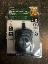 PRIME 15-Amp 2-Outlet Mechanical Residential Plug-in Countdown Function Lighting