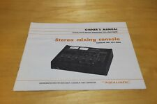 Realistic Stereo Mixing Console 32-1200A Owner's Manual