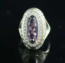 Turkish Handmade Jewelry Sterling Silver 925 Amethyst Ring Size 7 8 9