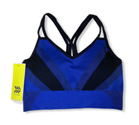 Women's Medium Support Ribbed Sports Bra -All in Motion -Blue-Various Sizes-S716