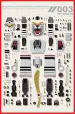 Mighty Morphin Power Rangers #3 White Tiger Breakdown Zord Janice Chu Variant