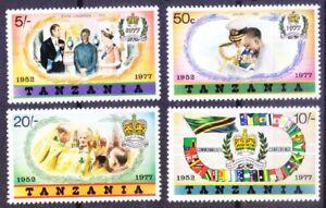 Tanzania 1977 MNH 4v, Queen, Coronation, Flags, Royal Family