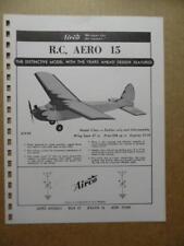 1958 AIRCO Aero Models RC AERO 15 AERO 9 Model Plane Catalog Sheet Vintage VG+