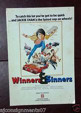 Winners and Sinners {Jackie Chan} Hong Kong Org. Kung Fu Film Program 80s