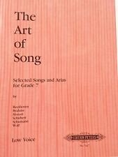 The Art of Song-Selected Songs and Arias-for Grade 7-Low voie