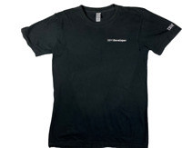 IBM Developer  American Apparel T-Shirt Black Short Sleeve Small