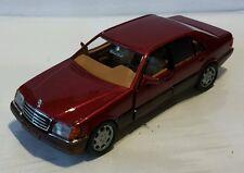 Mercedes W140 600SEL V12 500SEL V8 420SEL S-Klasse rot metallic Schabak  1:43