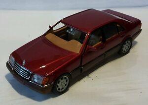 Mercedes W140 600SEL V12 500SEL V8 420SEL S-Klasse rot red met. Schabak  1:43