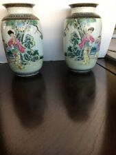 Chinese Matching Pair Eggshell Vases Late Ching or Early Federal Period