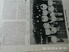 Preston north end & Blackburn rovers team groups F.A.Cup winners 1889 & 1890 A4