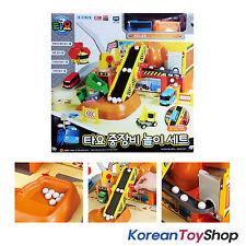 The Little Bus Tayo Heavy Equipment Play Set Toy w/ Tayo Mini Bus Korean Ani