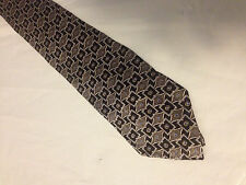 "Boys 51"" Black Gray SILK Tie Necktie VAN HEUSEN~ FREE US SHIP (8909)"
