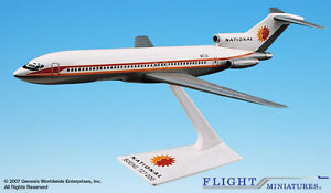 Flight Miniatures National Airlines 1967 Boeing 727-200 1/200 Scale New in Box