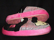 NEW Hello Kitty Pink Sequined Glittery Plush Slippers Sz 11/12 13/1 2/3 4/5