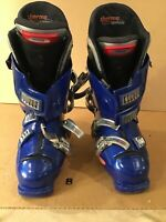 Lange L10 Blue/Grey Size 305mm Used Downhill Ski Boots Size 8 EUC