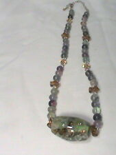 Beautiful Glass Bead Necklace 925 Lobster Claw Closure