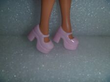 Barbie Shoes - Light Pink Chunky Platform Mary Janes Also Fit Blythe & Skippers