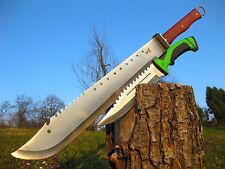 Riesen Zweihand Machete 70 cm + Massives Jagdmesser 32 cm Knife Set M023 + J092