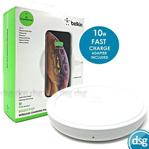 Belkin Wireless Charging Pad Qi 10W Charger - BOOST UP - Fast Universal Charging