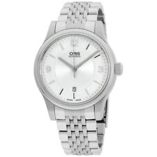 Oris Classic Date Silver Dial Stainless Steel Men'S Watch 73375944031Mb