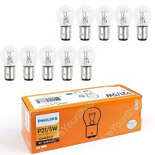 10x Genuine Philips 12V 21/5W Signal Light P21/5W BAY15d 12499 Bulbs Brake Lamp