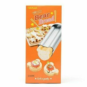 Steel Bear Bread Mold with 3 stencils Lid baking pan by TigerCrown AUST STOCK