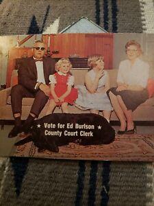 Ed Burlson Republican political 1960s? Postcard