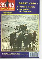 39-45 N°43 BREST 1944 : bataille navale / poche du CONQUET