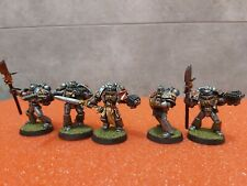 Warhammer 40k - Grey Knights Metal Miniatures - 5x Marines - Squad