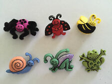 Garden Party Bugs Novelty Buttons by Dress It Up Jesse James Buttons 4672