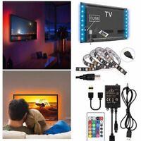 TV Backlight Light Kit 3FT/1M 5V USB LED Lights Strips 5050 RGB Bias Lighting US