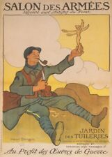 Exposition de bataille-Front Artistes. Vintage French WW1 Propaganda Poster