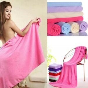 LARGE MICROFIBRE BATH TOWEL SPORTS GYM QUICK DRY TRAVEL CAMPING SWIMMING UK