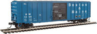 Walthers HO Scale 50' ACF Exterior Post Boxcar Boston & Maine/B&M (Blue) #3398