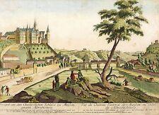 MEISSEN - Schloss Albrechtsburg - Nabholz - kolorierter Kupferstich 1780