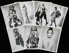 Vintage Lot of 7 Harry Langdon Fashion Photographs w/ Blind Stamps 1970s Trendy