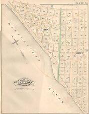 1883 BLACK PEARL NEW ORLEANS LOUISIANA MISSISSIPPI RIVER-WALNUT STREET ATLAS MAP