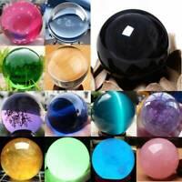Natural Quartz Magic Gemstone Sphere Crystal Reiki Healing Ball Stone Gem Lot UK