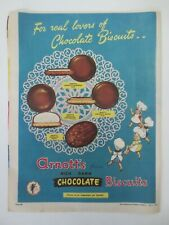 Vintage Australian advertising 1958 ad ARNOTT'S FAMOUS CHOCOLATE BISCUITS