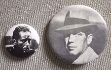 Lot of 2 Vintage HUMPHREY BOGART Pinback Buttons Bogey