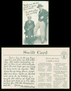 Mayfairstamps Ad Postcard Stebbins Boys John & Esley Swift's Premium Quality Pos