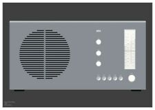 Braun RT20 Radio graphic design giclée print size A3