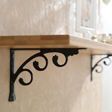 2pcs Wall Mounted Shelf Bracket L Shaped Shelf Bracket Floral Shelf 15x12cm
