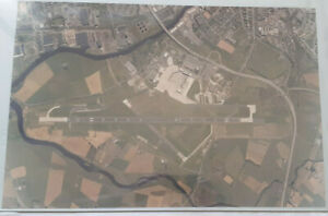 Vintage Aerial Photographic Print Of Glasgow Airport