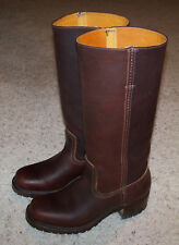 FRYE 77046 Campus 14 G Chestnut Brown Leather Motorcycle Riding Boots Women 6.5