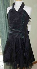 Little Black Dress, LBD, cocktail / party / prom with net shoulder wrap / scarf