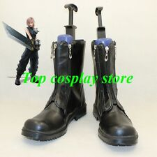 Final Fantasy VII Cosplay Cloud Strife black Boots shoes shoes boot
