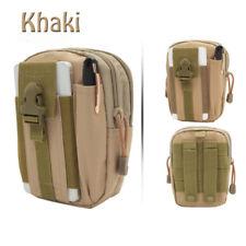 Multifunctional Multicolor Outdoor Waist Bag Waterproof Nylon Pack Phone Pocket Khaki