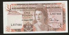 Gibraltar 1 Pound 1988 Pick 20e UNC #607444