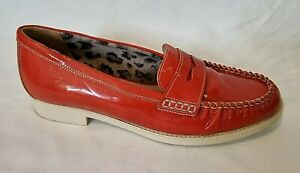 Aquatalia By Marvin K For Filippo Raphael Ladies Shoes Eur 39.5 Red Loafers